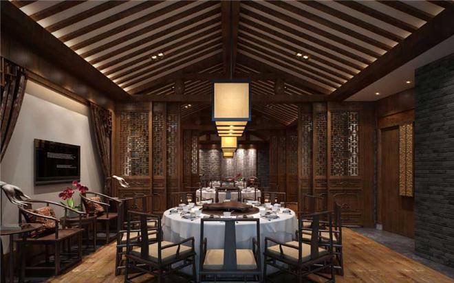 设计师分享中式火锅店室内设计案例