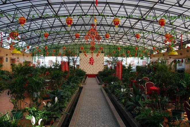 大棚农家乐设计效果图-浅析休闲生态餐厅概念与案例