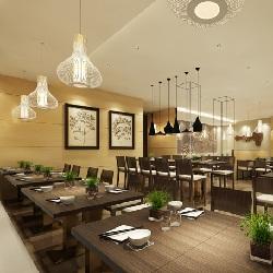 悠味居室餐饮店v居室米线(杭州)室内设计:案例表现篇图片