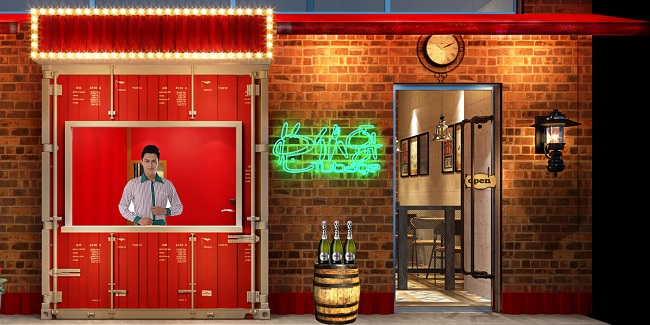 """独立设计师""""兔��哥""""烧烤餐厅设计(上海)"""