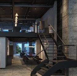 """""""出门在外""""创意面馆室内设计(上海)"""