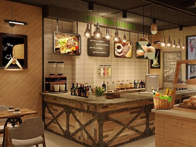"""Aurora""欧罗拉咖啡西餐厅设计(南京)"