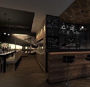 """黄浦""""蓝猫""""咖啡西餐厅创意设计(上海)"""
